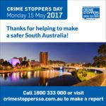 Thanks for contributing to a safer South Australia, says Crime Stoppers SA